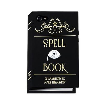 Spell Book 3D Phone Case in Black and Gold for iPhone 7 or 8