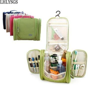 LHLYSGS Brand Men's Travel Portable Large Necessary Make Up Cosmetic Bag Women Waterproof Hanging Toiletry Wash Organizer Bag