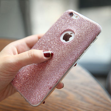 Phone Case For Iphone 7 Plus 6 6S 6 Plus 6S Plus 5 5S SE Luxury Bling Glitter Ultra Thin HIgh Quality Soft TPU Phone Back Cover