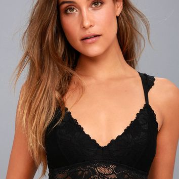 Cherished Black Lace Bralette