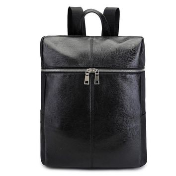 Leather Backpack Korean Vintage Travel Bags [6542364931]