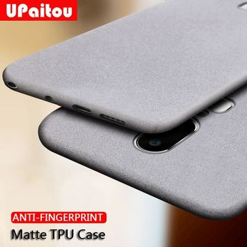 UPaitou Case for Oneplus 6T 6 5T 5 3 3T Anti Fingerprint Case Soft Silicone Matte Ultra Slim Thin TPU Cover for One Plus 1+ 6 5t