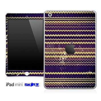 Vintage Dark Blue Chevron Skin for the iPad Mini or Other iPad Versions