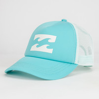 Billabong Womens Trucker Hat Seafoam One Size For Women 26803652401
