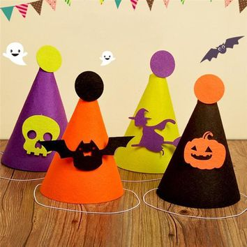 Halloween Pumpkin Sorceress Hat Witch Hat Fancy Dress Party Costume Cap Party Decor for Bars Decor Performance Props