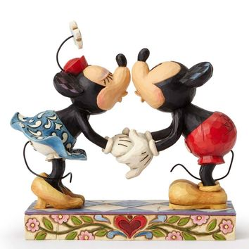 Disney Traditions Mickey Minnie Kissing Smooch For My Sweetie Jim Shore New Box