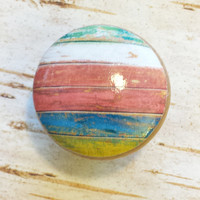 Distressed Wood Knob Drawer Pulls, Multi Colored Tones, Weathered Beach Cabinet Handles, Reclaimed Wood, Kids Room, Made To Order, Style 4
