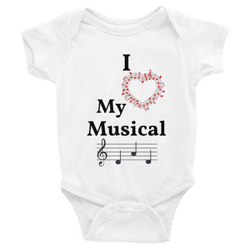 I Love My Musical Dad, music baby clothes, music baby Onesuits, music baby Onesuits, music baby shirt, trendy baby clothes, baby shower gift,
