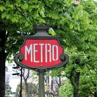 Paris photography, Paris decor, spring in Paris, retro signboard, art deco, metropolitain, street art, 5x7 (13x18)