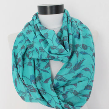 tulips infinity scarf, scarf, scarves, long scarf, loop scarf, gift