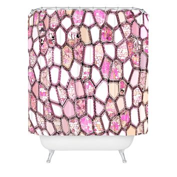 Ingrid Padilla Pink Cells Shower Curtain