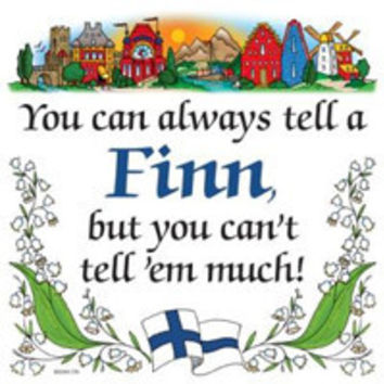 Kitchen Wall Plaques: Tell a Finn