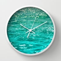 SIMPLY SEA Wall Clock by Catspaws | Society6