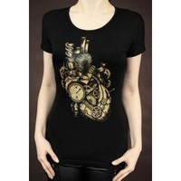 Restyle Mechanical Heart Steampunk Tshirt