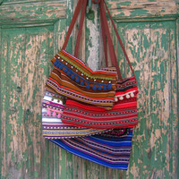 Valeria Cross Body Boho Bag in Red