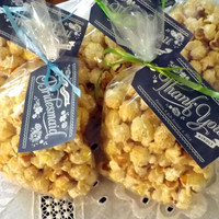 BULK Large Bags Regular Caramel Kettle Corn Favors; Natural Gluten Free; Colors, Flavors, Personalized Labels Available