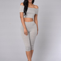 Kae Bae Top - Heather Grey