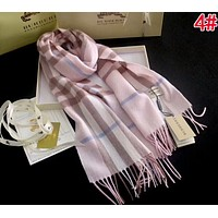 BURBERRY Classic Popular Soft Comfortable Cashmere Cape Scarf Scarves Shawl Accessories Pink