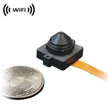WF-100PCX : Sony 1080p IMX323 Chip Super Low Light Wireless Spy Camera with WiFi Digital IP Signal, Recording & Remote Internet Access (Hide-it-Yourself, Super conical pinhole Lens)