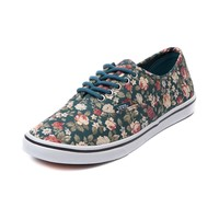 Vans Authentic Lo Pro Floral Skate Shoe, Turquoise | Journeys Shoes