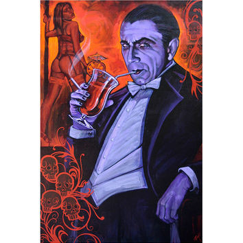 Lowbrow Art Company Smarmy Extraordinaire Art Print by Artist Mike Bell