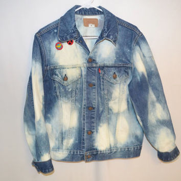 Acid Wash Levis Denim Jacket by UndisposedClothing on Etsy