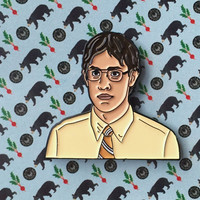 The Office Jim Halpert as Dwight Schrute Soft Enamel Pin Bears, Beets, Battlestar Galactica