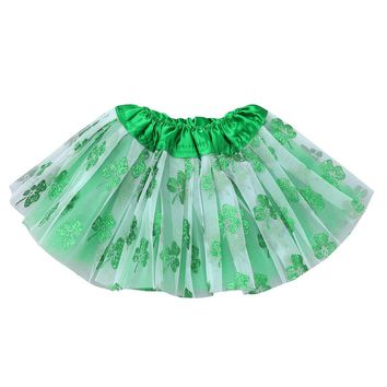St.Patrick's Day Four Leaf Clover  Tutu Skirt