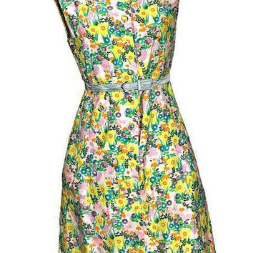 Vintage MOD 1960 Peck & Peck Flowers Dress, Just In