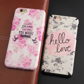 Silk Pattern Flower Words TPU Phone Case For Apple iphone 6 6s 6plus 6splus Cute Sexy Bra Animals Love Face Soft Silicone Case