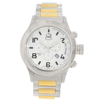 Invicta 15472 Men's Russian Diver Off Shore Silver Dial Two Tone Bracelet Chronograph Dive Watch