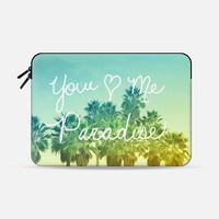 "You - Me - Paradise Macbook Pro 13"" sleeve by Lisa Argyropoulos 