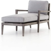 Laurent Outdoor Chaise | Canvas Graphite