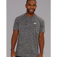 Under Armour UA Tech® Emboss S/S Tee Black Twist/White - Zappos.com Free Shipping BOTH Ways