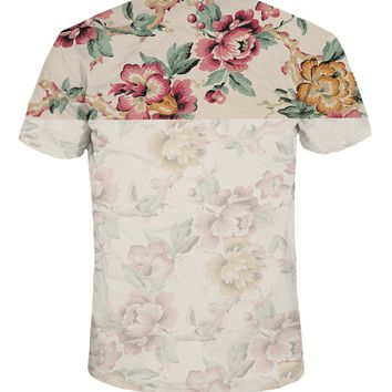 Casual Suitable Trendy Crew Neck Floral Printed T-Shirt