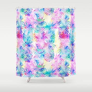 Pineapple Dream Shower Curtain by Schatzi Brown