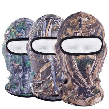 Breathable Realtree Camouflage Hats Balaclava Full Face Mask Tactical Cap Windproof Airsoft Helmet Liner Gear