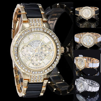 women rhinestone watches crystal stainless steel Ladies Quartz Diamonds Luxury Women Dress watches = 1956615492