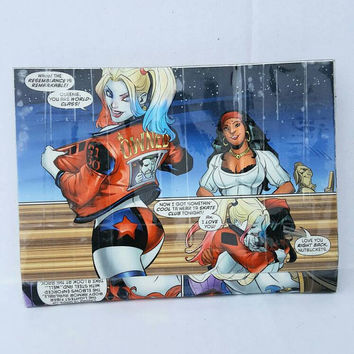 Harley Quinn Comic Book Bag - Mini Clutch - Pouch - Purse