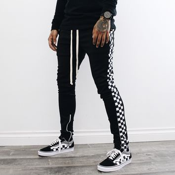 Checkered Track Pants