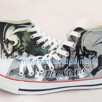 Bleach Converse Custom Converse Sneakers Ulquiorracifer Kicks, Special Birthday or Christmas Gift for Friends, Kids or Couples