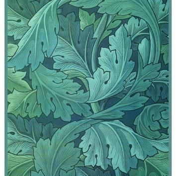William Morris Green Acanthus detail Counted Cross Stitch or Counted Needlepoint Pattern