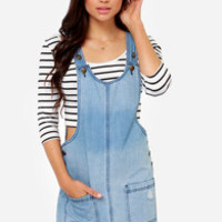 Others Follow Andrea Denim Overall Dress