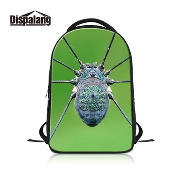 Cool Backpack school Dispalang insect pattern Cool Laptop bag travel Backpack for College men Large Book bag Computer package High Quality School bag AT_52_3