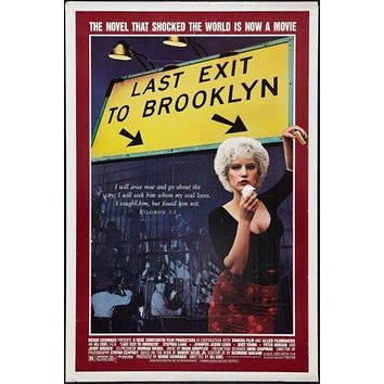 Last Exit To Brooklyn Movie poster Metal Sign Wall Art 8in x 12in