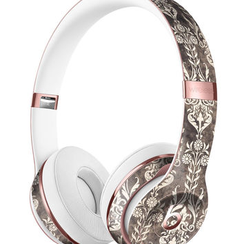 Scratched and Grungy Royal Pattern Full-Body Skin Kit for the Beats by Dre Solo 3 Wireless Headphones