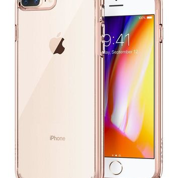 Spigen Ultra Hybrid [2nd Generation] iPhone 7 Plus Case / iPhone 8 Plus Case with Clear Protection and Air Cushion Technology for iPhone 7 Plus (2016) / iPhone 8 Plus (2017) - Rose Crystal
