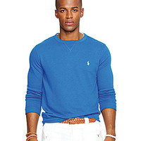 Polo Ralph Lauren Terry Crewneck Pullover - Liquid Blue