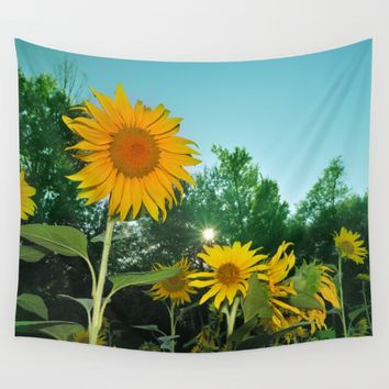 Sunflower Wall Tapestry by Guido Montañés