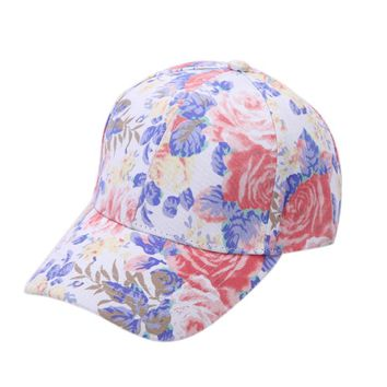 SIF Flower Cotton Baseball Cap Boys Girls Snapback Hip Hop Flat Hat MAY 30